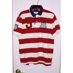 TOMMY HILFIGER Short sleeve rugby Polo Shirt EUC